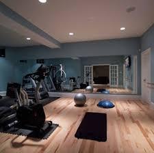 Decorating: Home Gym Design With Wood Floor - Home Gym Design