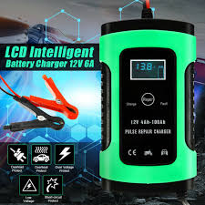 Car Battery Charger <b>12V 6A LCD Display</b> Lead Acid Automotive ...