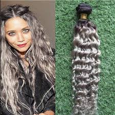 new 8a ombre brazilian hair deep wave grey hair weave platinum silver gray dark root ombre hair extensions 3 bundles human hair weave brazilian