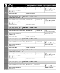 Sample Mileage Log Form 7 Examples In Pdf