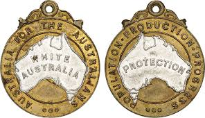 racist illustrated sovereign union first nations white policy campaign badge 23x27mm were made in brass and aluminium