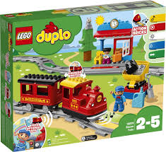 Конструктор <b>LEGO DUPLO</b> Town 10874 <b>Поезд на</b> паровой тяге ...