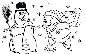 Small Picture Winnie The Pooh Free Christmas Coloring Pages For Kids Christmas