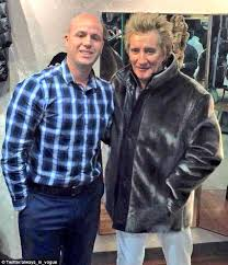 rod stewart has sparked outrage after he posed in a sealskin coat at a canadian