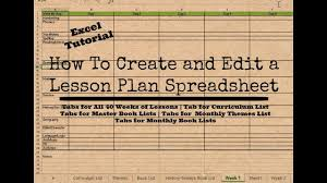 How To Create And Edit Your Own Homeschool Lesson Planner