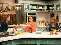 the kitchen food network.  Network Host Marcela Valladolid Has A Platter Of PanSeared Pork Chops With  Pineapple Gravy And Mexican Couscous To Cohost Katie Lee As Seen On Food Networku0027s The  Intended Kitchen Network S
