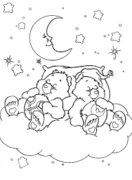 Small Picture Coloring Pages For Girls Care Bears Sleeping Cartoon Coloring
