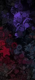 dark purple flower iphone wallpaper