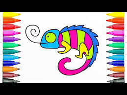 How To Draw Chameleon Frog Coloring Pages Animals For Kids