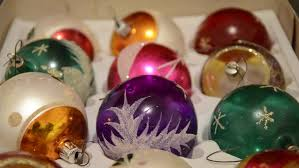 Hand Decorated Christmas Balls Christmas Colorful Balls Plastic Snowflakes On Floor Mans Hand 44