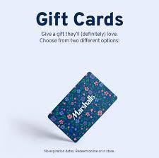 gift cards marshalls