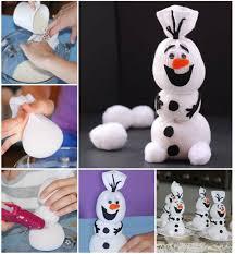 creative ideas diy olaf sock snowman
