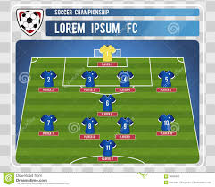 Soccer Lineups Football Or Soccer Starting Lineup With Editable Arrangement