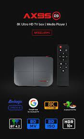 AX95 Android 9.0 akıllı TV kutusu 4G 128G Amlogic S905X3 destek Dolby BD MV  DB ISO çift Wifi 4K Google play Store Youtube medya t Satılık! > Yeni <  PerakendeBaslat.today