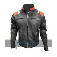 retro3 moto café racer leather jacket