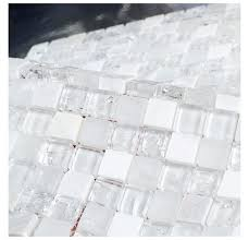 clear mosaic tiles white stone mixed ice le clear glass mosaic bathroom mosaic tiles white mixed clear mosaic