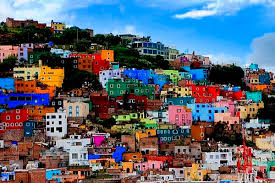 colonial colorful city in mexico