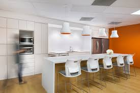 accent office interiors. staff kitchen at t2 digital office interior design by ssdg interiors inc white accent