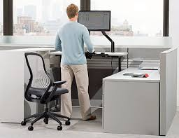 standing office table. Adjustable Height Desk And ReGeneration By Knoll Standing Office Table