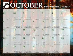 October 2019 Daily Bible Reading Calendar In Gods Image
