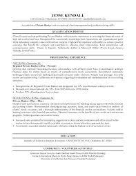 Resume Samples For Banking Professionals Amazing Personal Banker Sample Resume Samancinetonicco