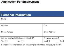 Free Sample Job Application Forms Template Job Application Form Socialrovr Com