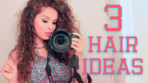 Nice Hairstyle For Curly Hair 3 easy hairstyles for curly hair youtube 7968 by stevesalt.us