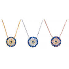 evil eye necklace 10mm diam midi size