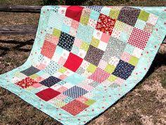 Framed: My Most Popular Moda Layer Cake Quilt Tutorial | Layer ... & Fat Quarter Shop ~ Layer Cake Checkmate Quilt (free pattern with a video  tutorial) Adamdwight.com