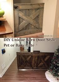 diy unique barn door style pet or baby gate
