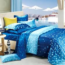 star bedding sets blue comforter sets queen size cobalt white and light galaxy scene star print