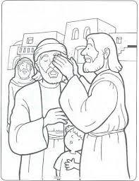 Healing The Blind Man Bartimeus Bijbel Kleurplaten Zondagschool
