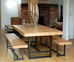 wood dining table with bench brilliant dining table bench seat tables style ughout set with remodel