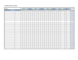 Attendance Sheet Template 12 Free Word Excel Pdf Samples