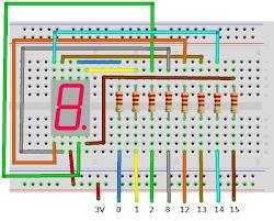 multiwingspan 7 segment display circuit