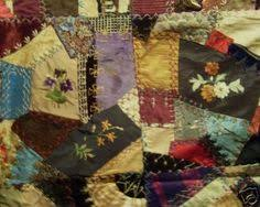 A lot like the quilt my Great-Great Grandmother made in 1875. This ... & Crazy quilt as defined by Wickapedia: Crazy quilts Main article: Crazy  quilting Crazy quilts were named because their pieces are not r. Adamdwight.com