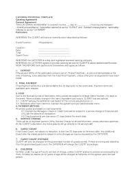 Example Of Catering Contract Catering Proposal Template Midterms