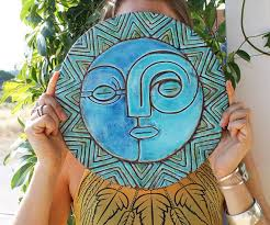 >sun and moon wall decor wall art garden art outdoor decor  sun and moon wall decor wall art garden art outdoor decor extra