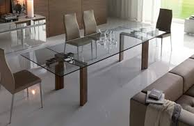 Expandable Glass Dining Room Tables Interior Cool Inspiration Design