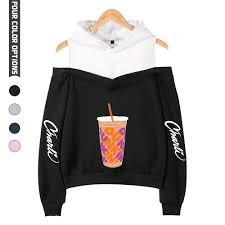 New Charli Damelio Merch Hoodie Sweatshirt Off shoulder Women Teens Girls  Charlie Damelio Merch Juice Print Fashion Pullovers|Hoodies & Sweatshirts