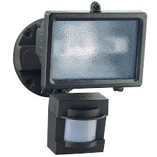 secure home 110 degree 1 head bronze halogen motion activated flood light with