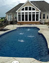 charming fiberglass pool installation