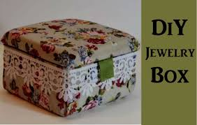 a beautiful jewelry box you can make with your own hands put those precious jewelries