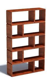 modular wood block shelf 3d model max 1
