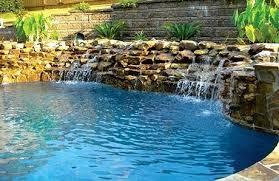 Rock Waterfalls For Inground Pools Waterfalls Pool Rock Waterfalls