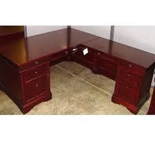 traditional wood l shape desk hunter office furniture shaped wood desks home