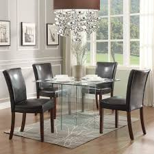contemporary black solid wood crate and barrel dining chairs round stunning leather square glass table laminate small