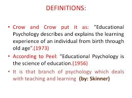 introduction to educational psychology definitions
