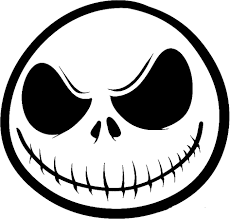 Nightmare before christmas coloring pages jack face - ColoringStar