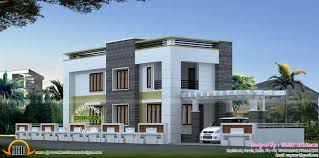 August   Kerala home design and floor plansFlat roof style house plan